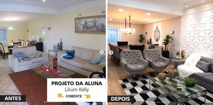 projeto de interiores salas