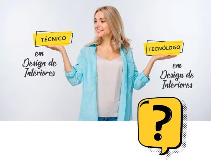 diferença entre técnico e tecn'ólogo design de interiores