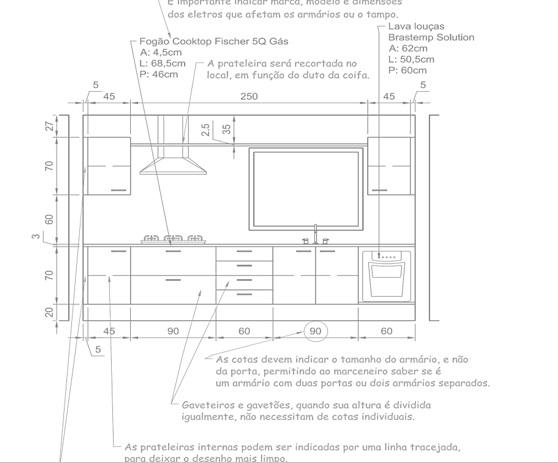 projeto e detalhamento de móveis